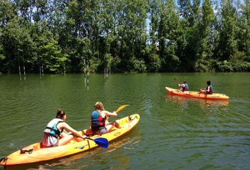 Canoeing on the Lez River