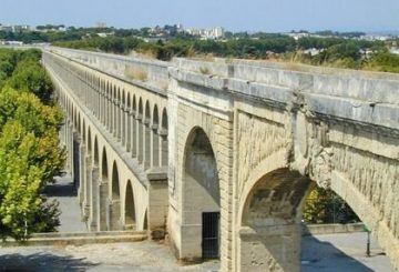 The roman Aqueduct in Montpellier
