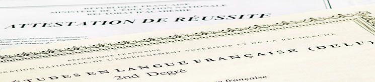 Verschiedene Französischprüfungen nach Bedarf